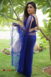 Actress Sony Charishta  Pictures in Blue Saree at Deep Mela 2016  0055