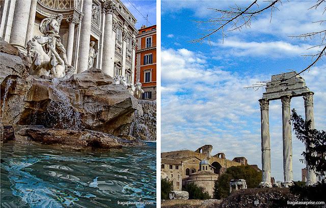 Fontana de Trevi e Fórum Romano, Roma