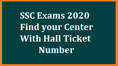 TS SSC Exams 2020 Find Center Details with Hall Ticket Numbers