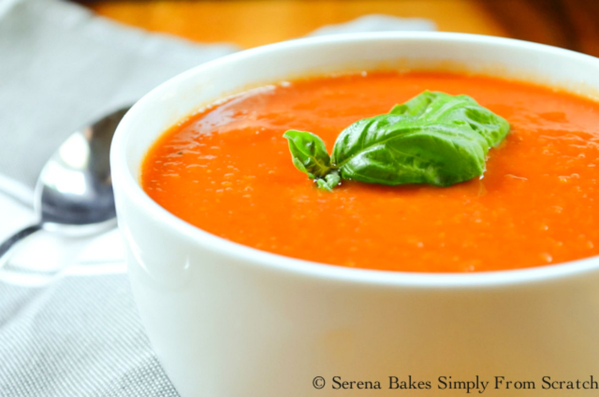 A simple Tomato Soup recipe made in the crock pot with the option to make it Cream of Tomato Soup. So hearty, simple, and delicious.