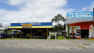 Well equipped city around Lake Arenal