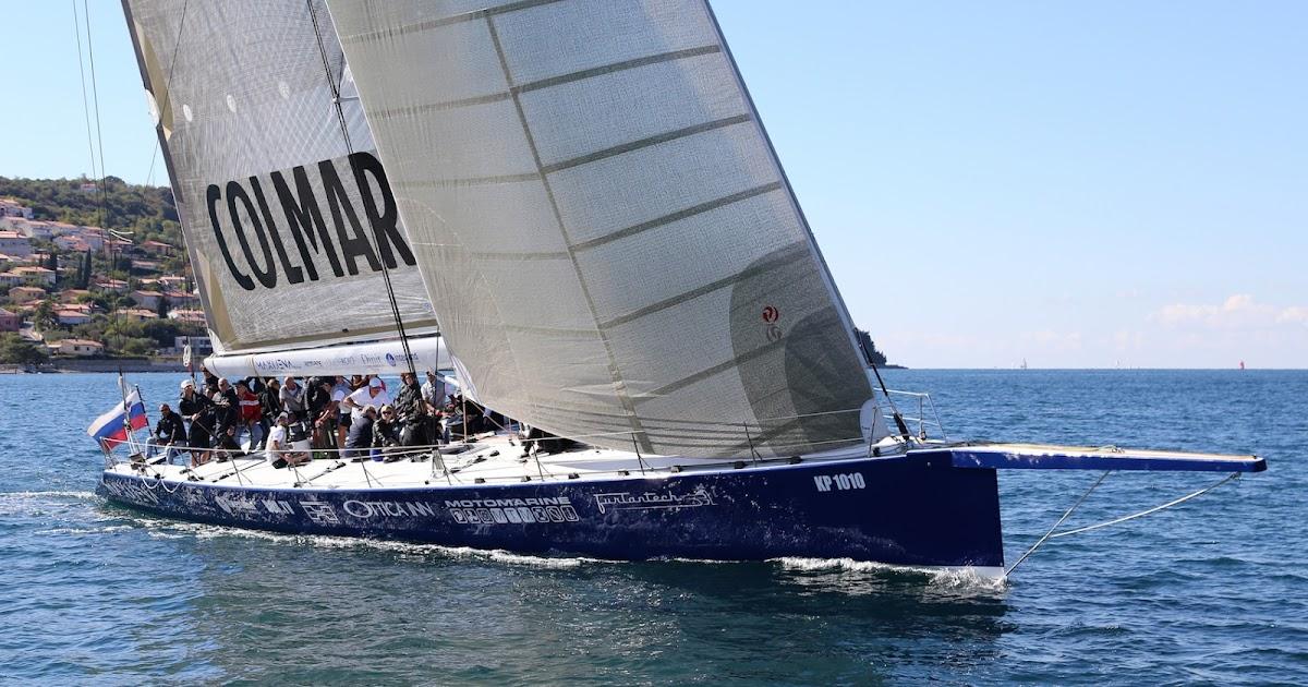 Maxi Jena Tempus Fugit - Il guidone dello Yacht Club Hannibal alla Barcolana