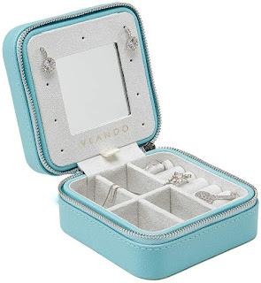 Vlando Small Travel Jewelry Box Organizer