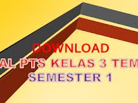 Soal PTS Kelas 3 Tema 1 K13 SD/MI dan Kisi-kisi