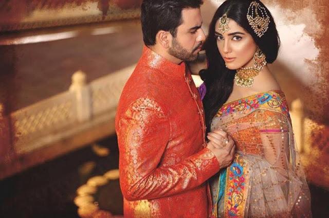 Maya Ali & Junaid Khan PhotoShoot for Nomi Ansari