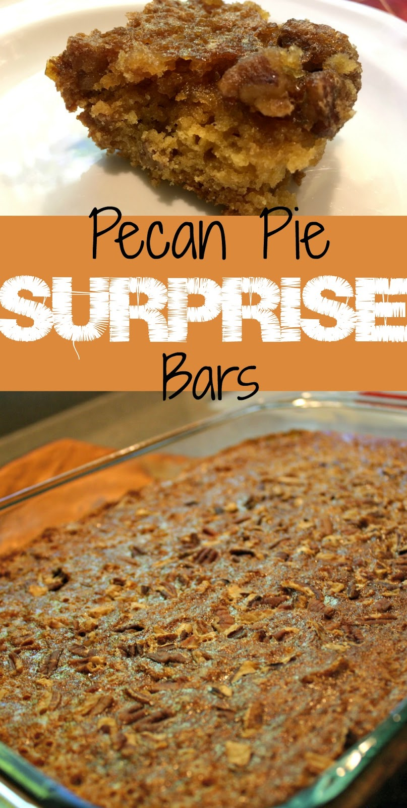 Allow the Pecan Pie Surprise Bars to cool and then cut them into bars.