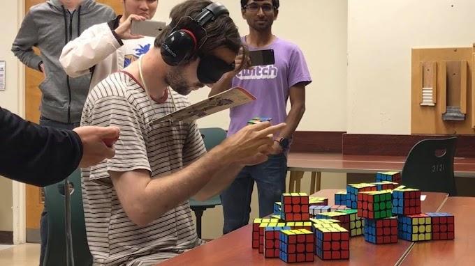 WR Multi-Blindfolded 3x3x3 Pecah Oleh Graham Siggins