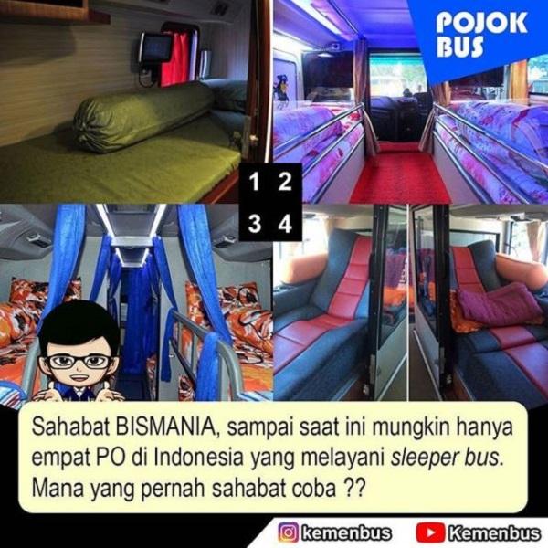 Beberapa PO Sleeper Bus di Indonesia