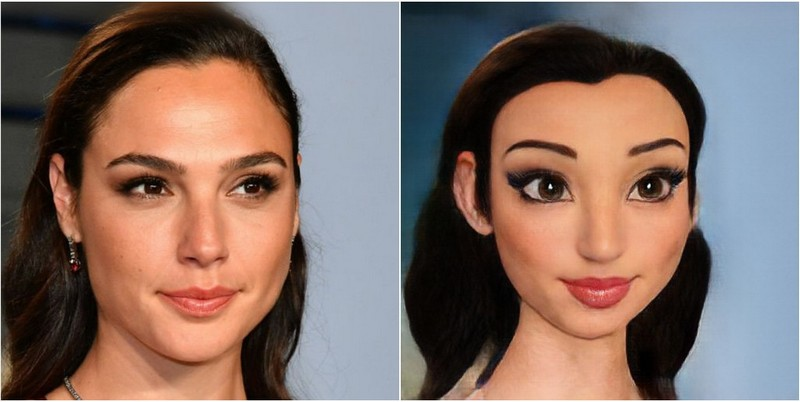 Gal Gadot Transform into Disney characters using neural networks