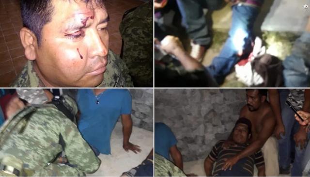 VIDEO;- Momento en que saqueadores roban vagones de tren, llegan Militares a dialogar pero son recibidos a balazos, Comandante chingón se defiende con disparos