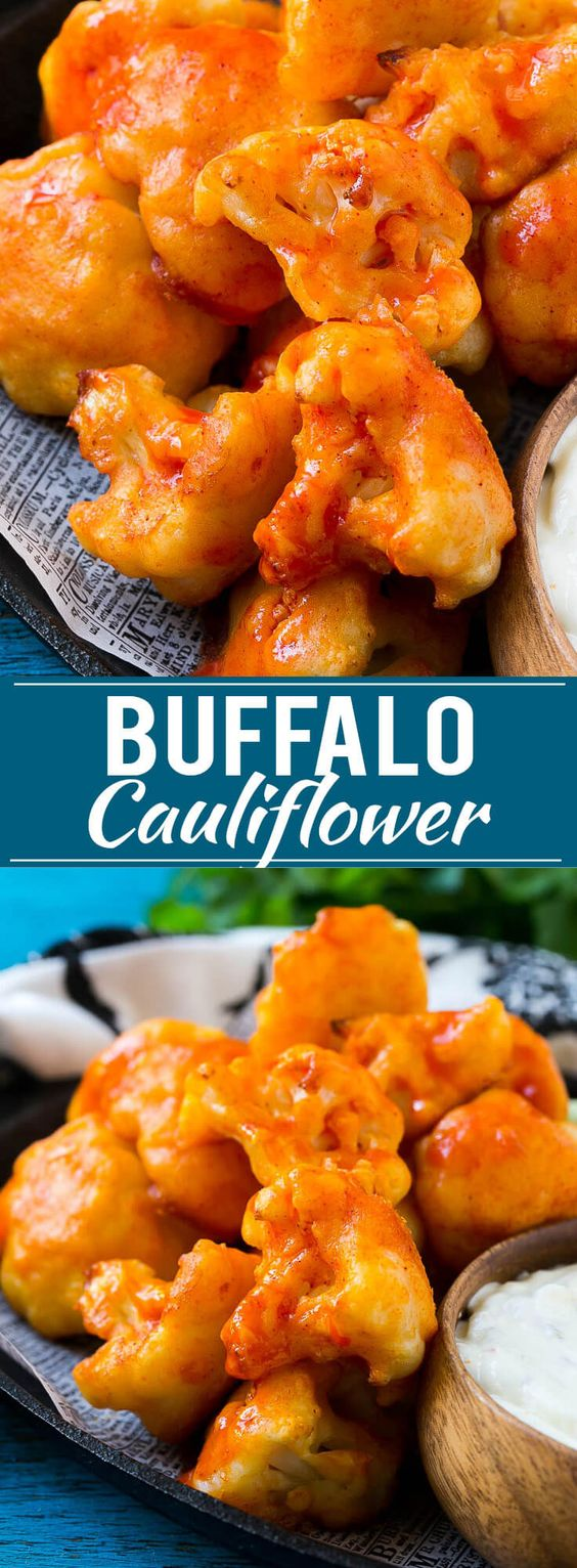 Buffalo Cauliflower Bites Recipe AD