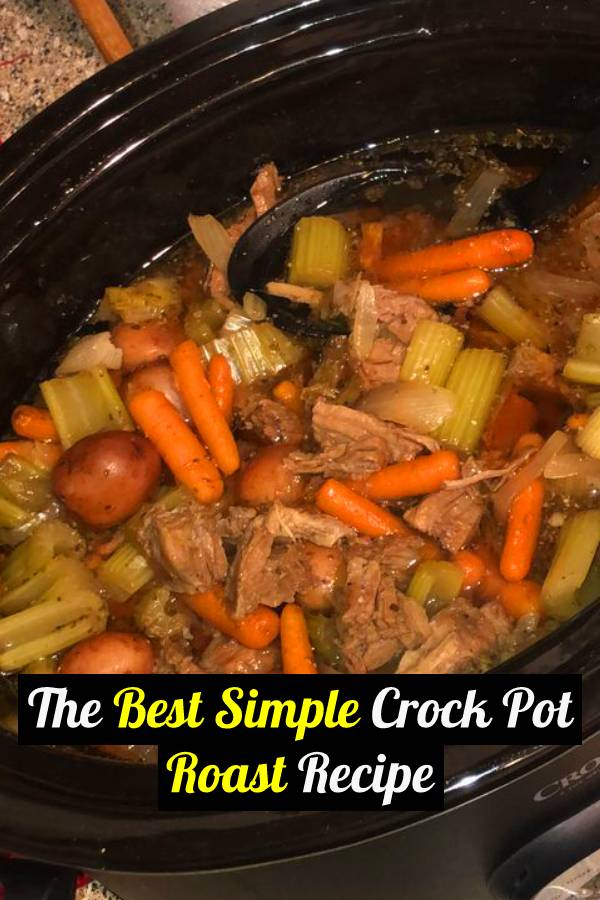 You will be surprised with how delicious this simple crock pot roast with potatoes recipe is. It is easy to make and packed with tons of flavor without seasoning packets! This is a great beef recipe that the entire family with love! #dinner #dinnerrecipes #dinnerideas #slowcooker #crockpot #crockpotrecipes