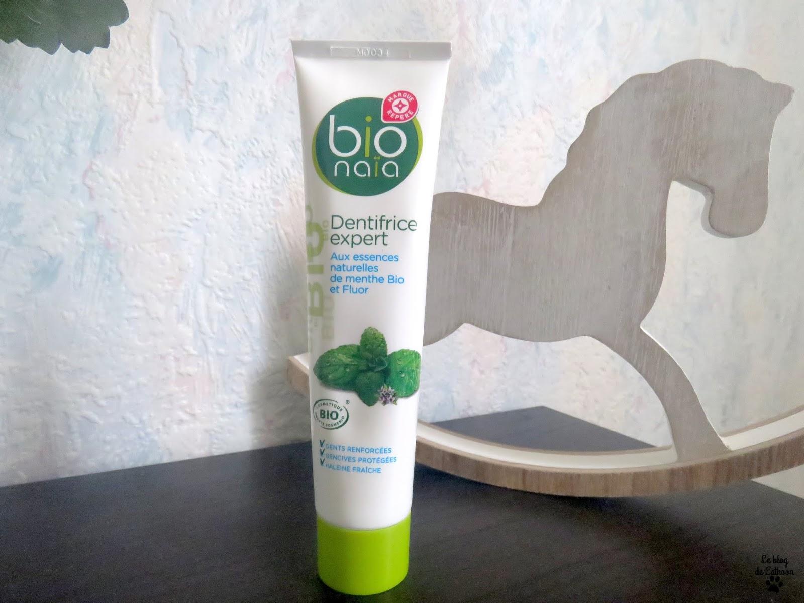 Dentifrice Expert -Essences naturelles de menthe bio et Fluor - Bio Naïa (Leclerc)