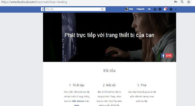 Các bước thực hiện tiến hành Live Stream Facebook trên Máy tính