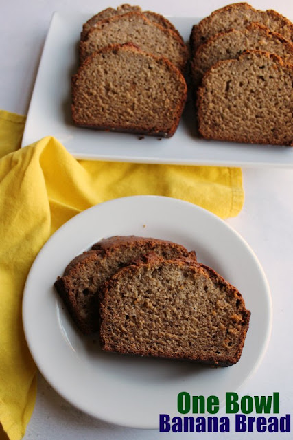 Classic banana bread is a perfect way to use up ripe bananas. This recipe makes an easy one bowl batter that results in a moist and delicious loaf of yummy banana bread.