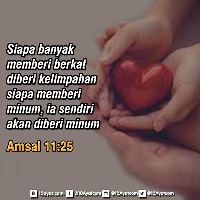 Amsal 11:25
