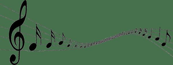 notas musicales transparentes png