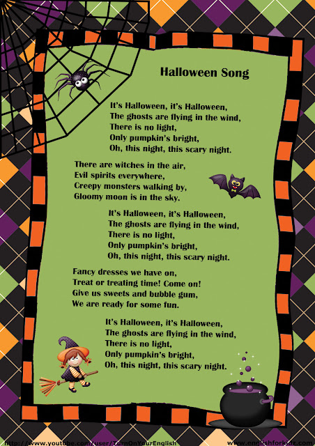 halloween song lyrics for children