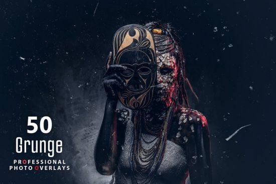50 Grunge Photo Overlays[Photoshop][Action]