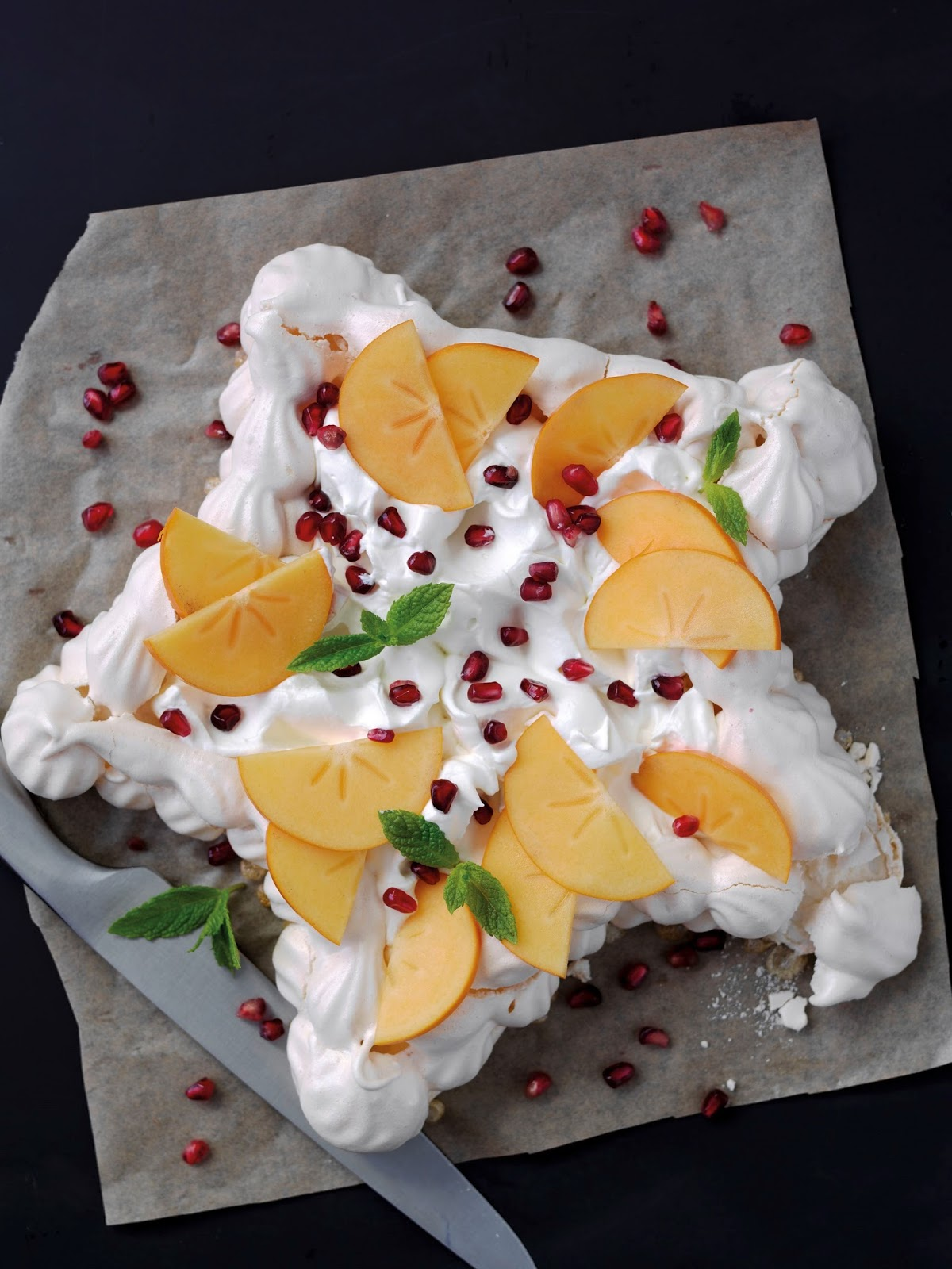 Persimon®And Pomegranate Pavlova Star For Christmas
