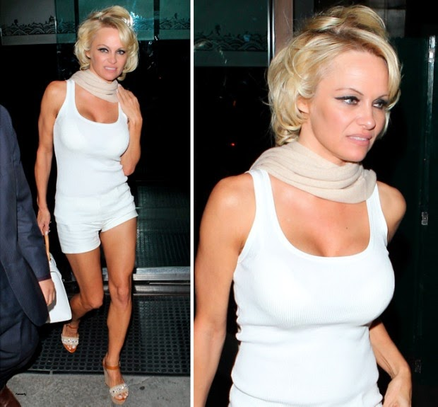 Pamela Anderson WOULD Wear This To Dinner within the Middle Of Winter