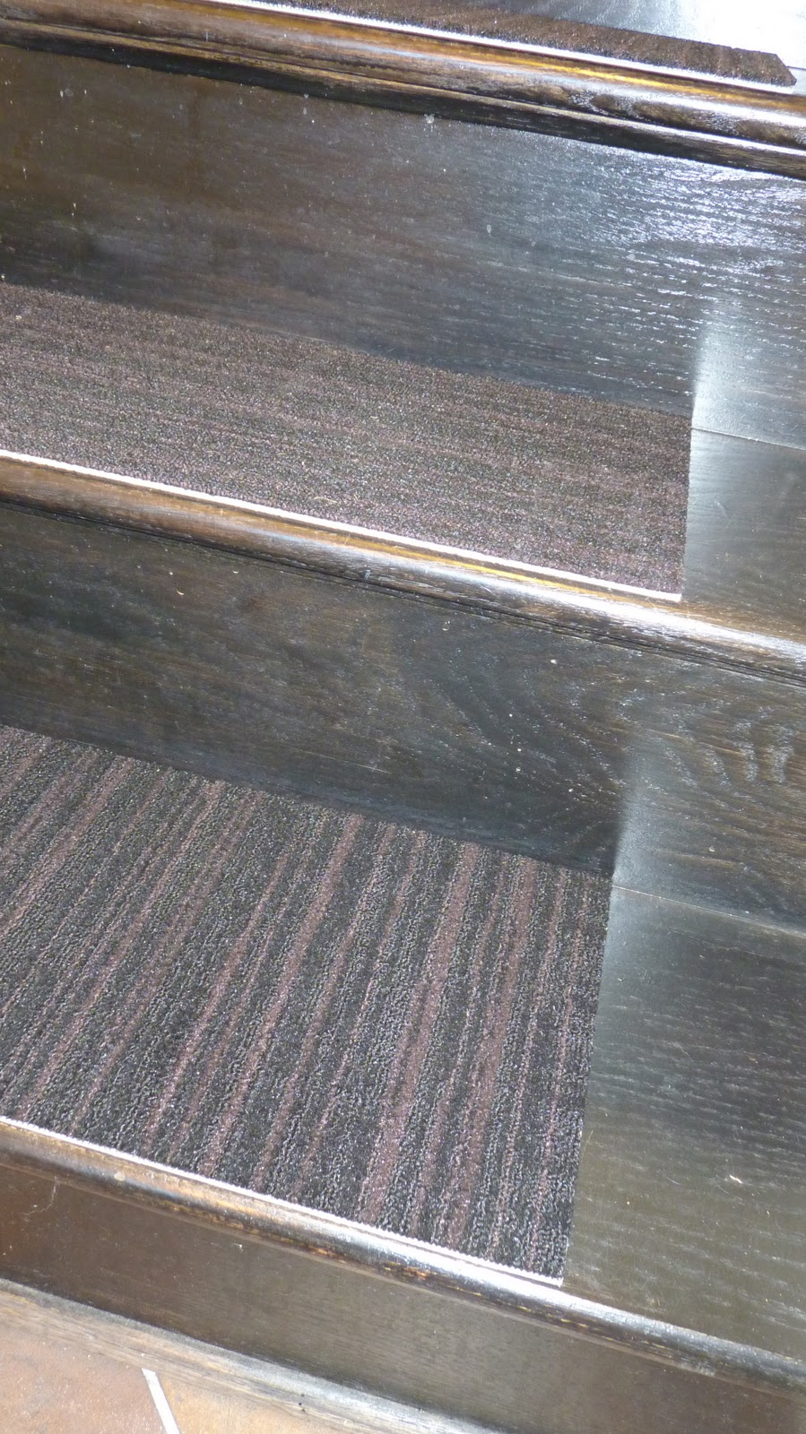 DiSabella Design: DIY Carpet Stair Treads