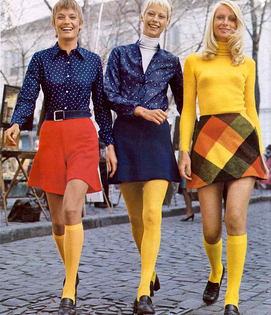Scandinavian fashion 1972, color catalog photo, primary colors