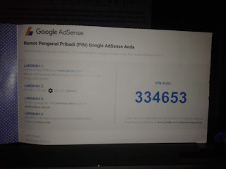 Contoh surat PIN Google Adsense