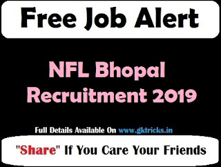 NFL Bhopal Recruitment 2019