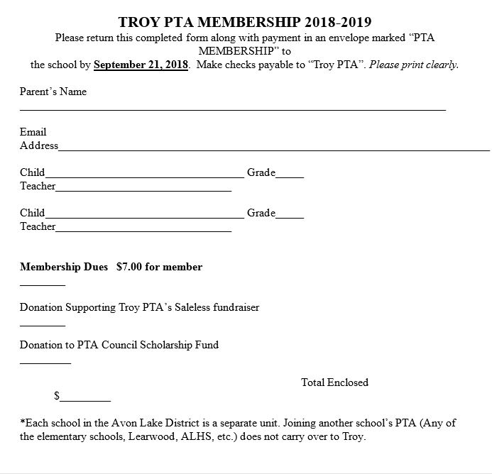 Troy Intermediate Principal Page: PTA Invites You to Join