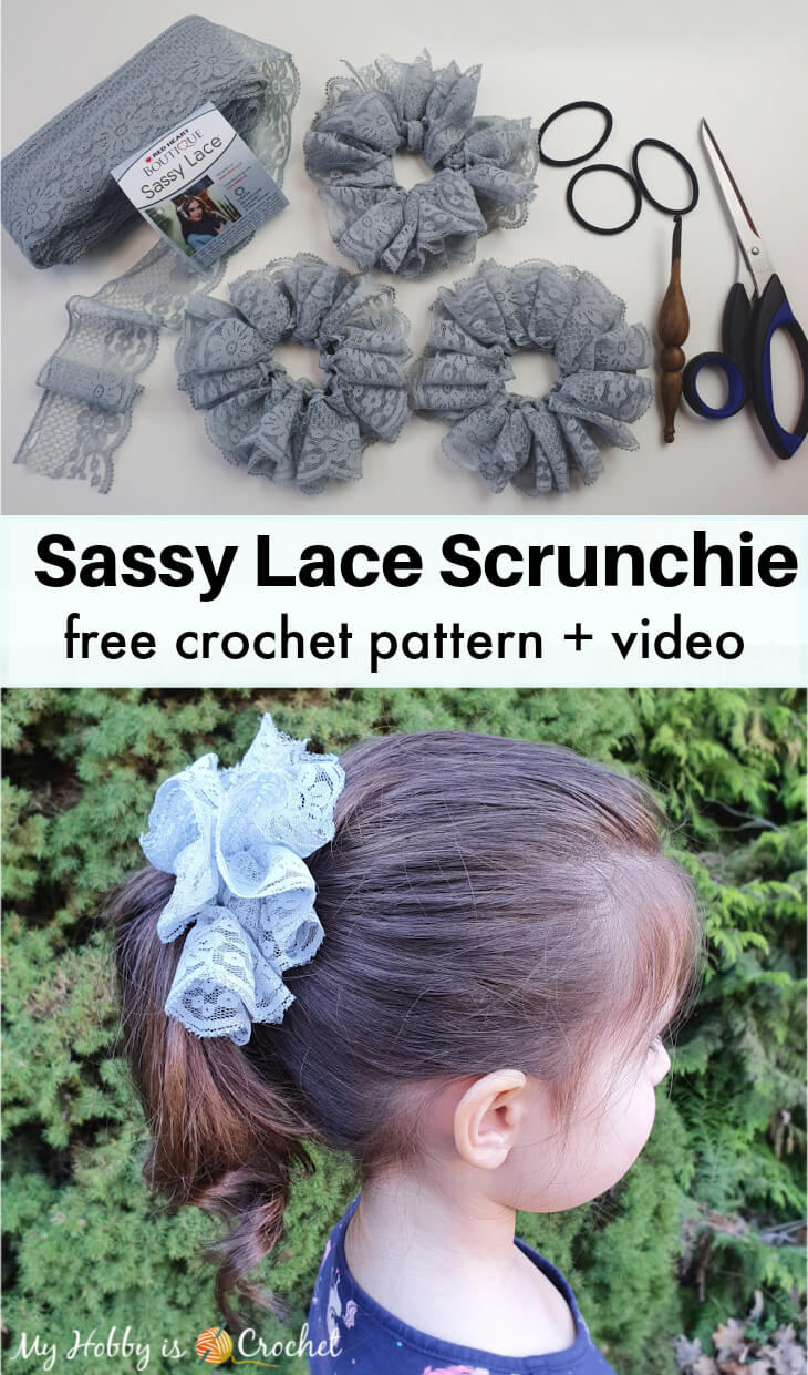 crochet hair scrunchies