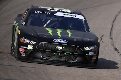 Riley Herbst with Stewart-Haas Racing finished in P7