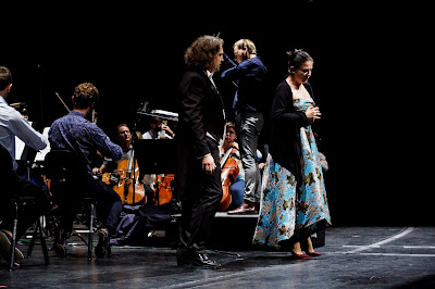 Queen Sonja International Music Competition 2019 - Adam Kutny (Poland), Natalia Tanasii (Moldova), Risto Joost (Photo Adrian Nielsen)