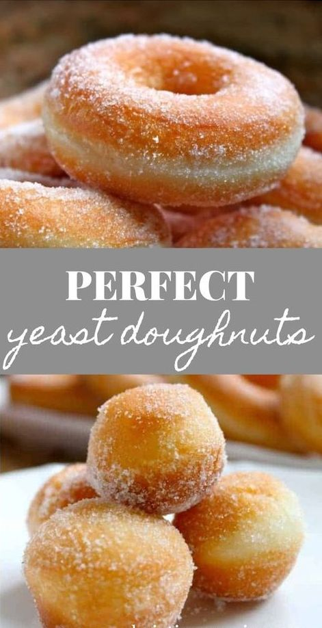 Perfect Yeast Doughnuts–Sugar, and Filled (with Jam, Nutella or Cream)