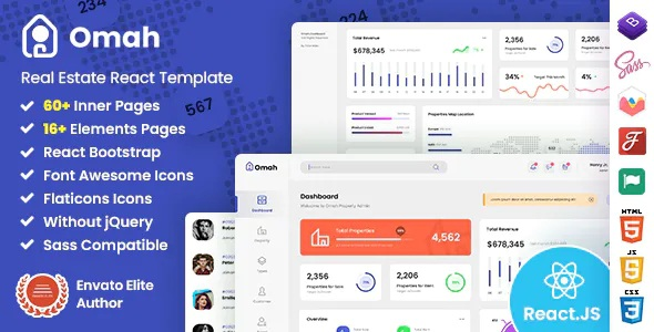 Best Real Estate React Admin Dashboard Template