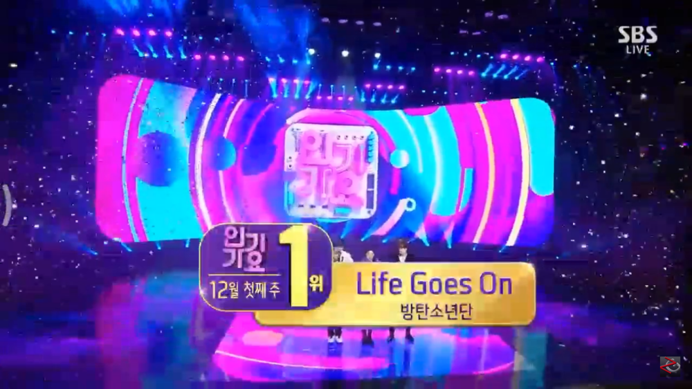 BTS Takes Home The 4th Trophy for The Song 'Life Goes On' on Inkigayo