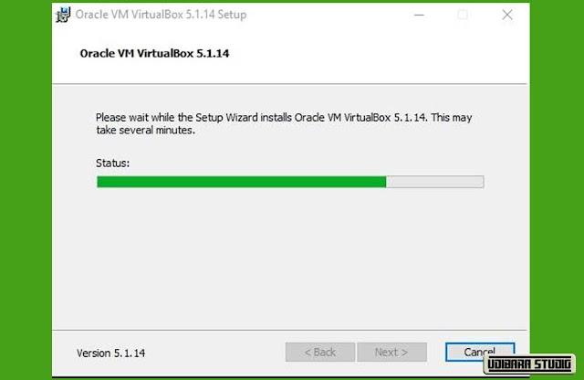 INSTALASI VIRTUAL BOX: Progress Bar Instalasi Virtual Box.