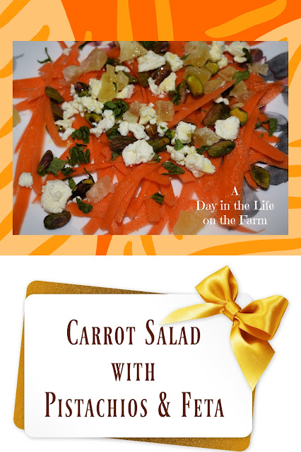 Carrot Salad with Feta and Pistachios pin