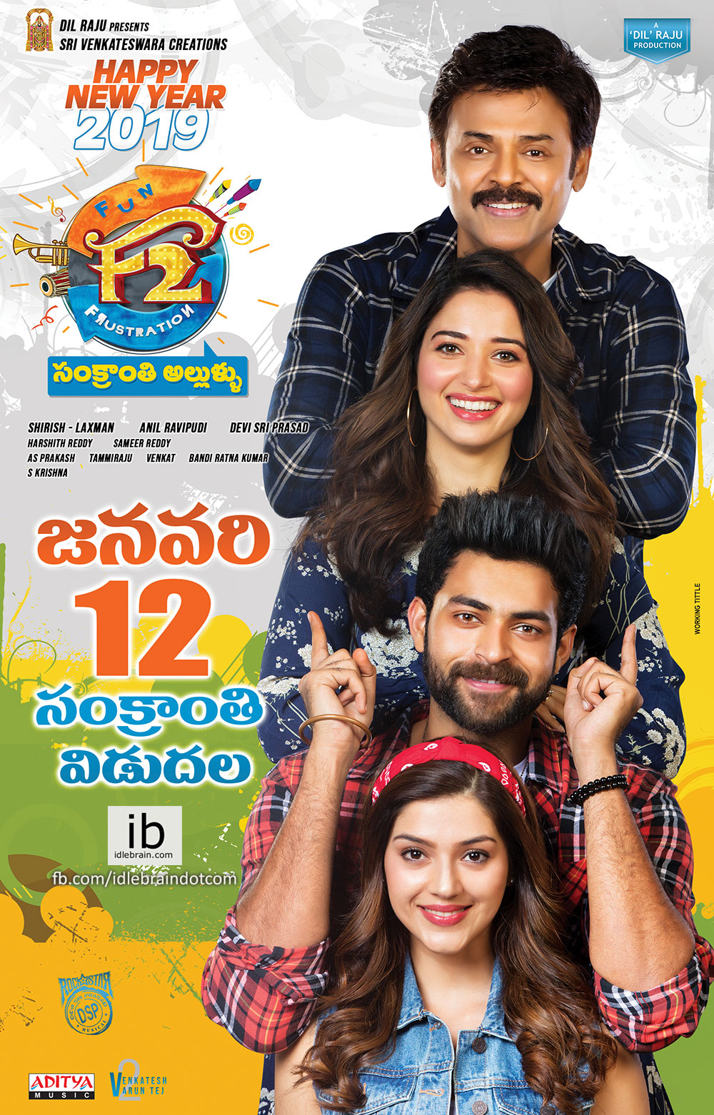 F2 Fun and Frustration 2019 Hindi Dubbed 720p HDRip 1.3GB Free Download