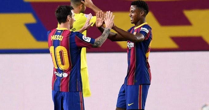 Barca sensational Ansu Fati reveals 'It was his childhood dream to play alongside Messi'