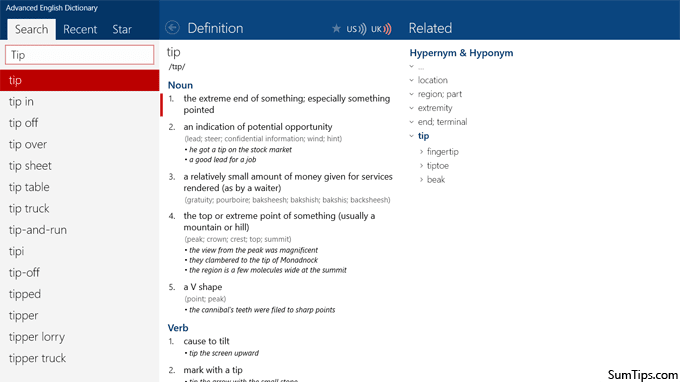 The Best Offline Dictionary Apps for Windows 8 | SumTips