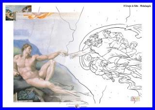 A criação de Adão - Michelangelo - www.professorjunioronline.com