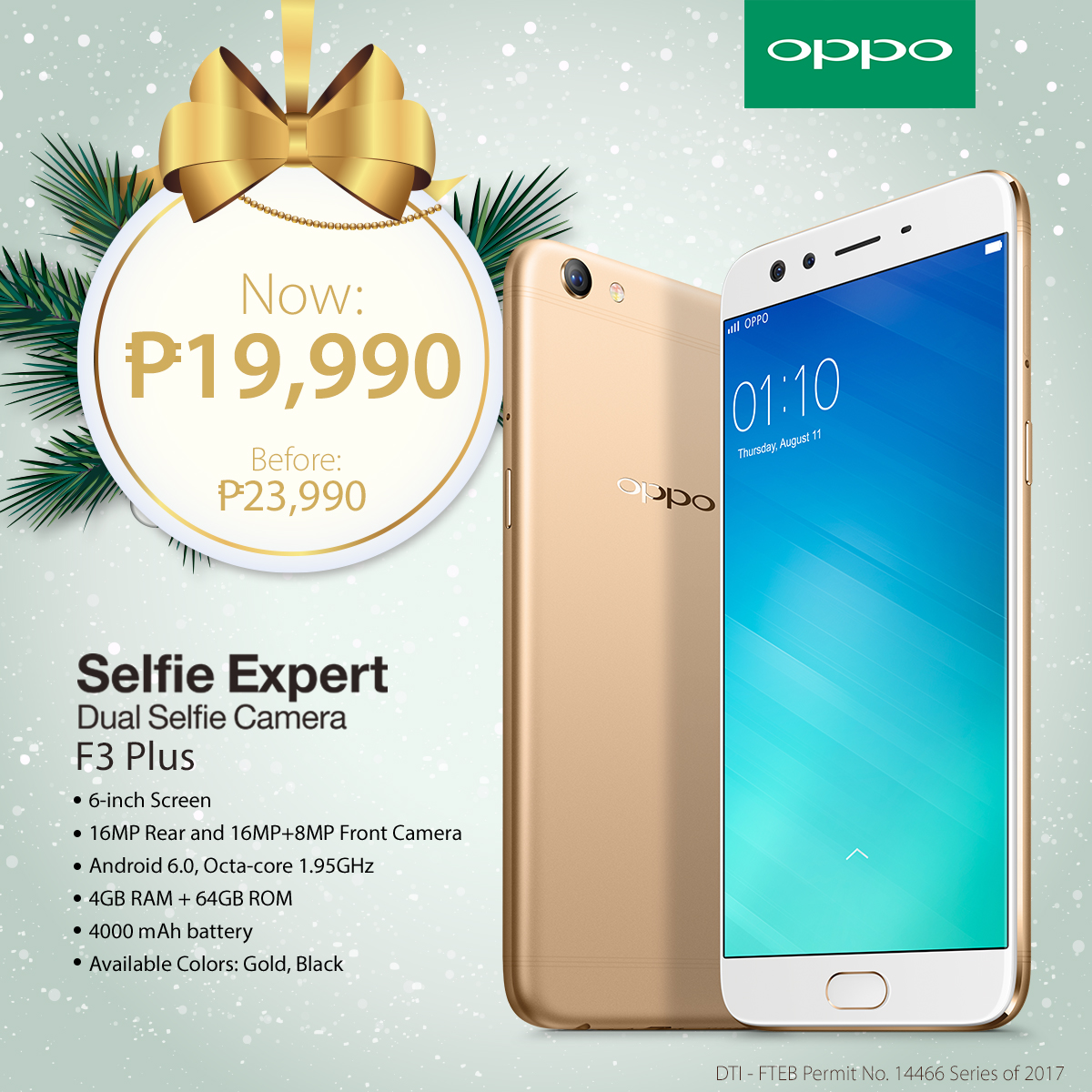 Crownless Ads And Media 2017 Oppo F3 Citra Land The 6 Inch Full Hd Design Of Plus Will Definitely Give You Extra Points On Your Gatherings Taking Groufies Has Never Been More Fun With