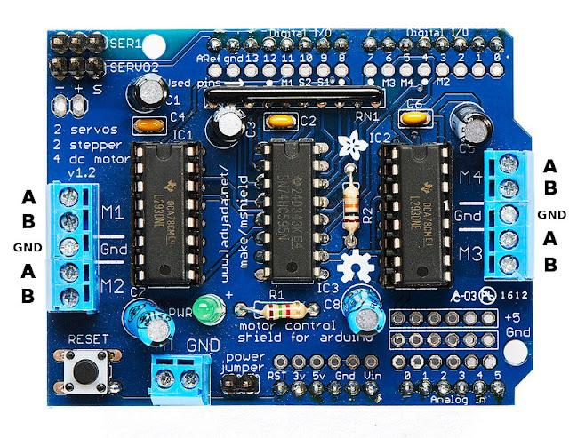arduino motor shield motor driver