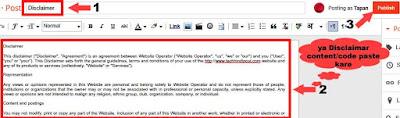 disclaimer page kaise banaye blog or website ke liye