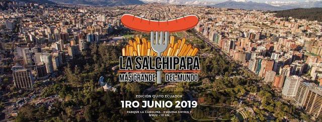 salchipapa más grande del mundo en Quito
