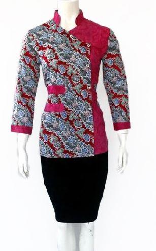 10 Model Baju Batik Kombinasi Embos Terbaru 2020