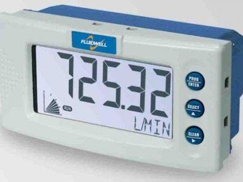 Fluidwell D010 DIN Panel mount - Flow rate Indicator