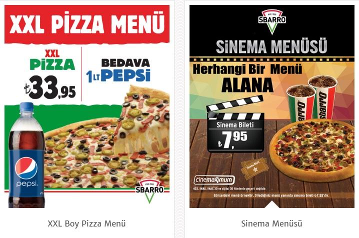 sbarro pizza kampanyalar