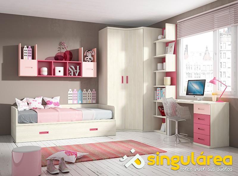 Dormitorio infantil con armario 1515 - Dormitorios infantiles valencia ...